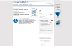Screenshot cme.aerzteblatt.de